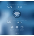 ecology infographic with unfocused background vector image vector image