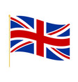 flag united kingdom on flagstaff vector image