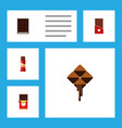 flat icon sweet set of chocolate chocolate bar vector image vector image