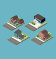 four project of suburban cottage vector image vector image