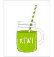 Fresh Kiwi Smoothie Healthy Food vector image vector image