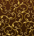 gold vintage seamless pattern vector image vector image