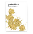 golden blots with glitter effect creative cover vector image