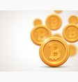 golden coin bitcoin sign symbol cryptocurrency vector image