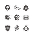 graphic of lions vector image vector image