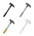 hammer of climbermountaineering single icon in vector image vector image