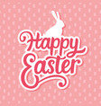 happy easter banner background template vector image vector image
