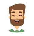 Happy hipster face vector image