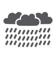 heavy rain glyph icon weather and meteorology vector image vector image