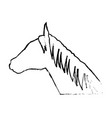 horse animal mammal nature equine icon vector image vector image