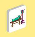 hospitalized computer symbol vector image vector image