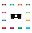 isolated wagon icon carrying element can vector image