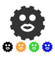 kiss smiley gear icon vector image vector image