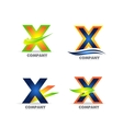 Letter X logo icon set vector image vector image