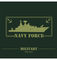 Military logo Navy force Graphic template vector image vector image