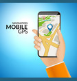 mobile gps navigation application 3d map vector image