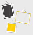 Modern frames on the wall vector image