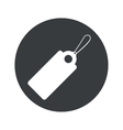 Monochrome round string tag icon vector image vector image