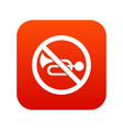 no horn traffic sign icon digital red vector image vector image