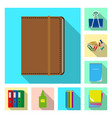 office and supply sign set vector image vector image