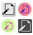 paper and pen flat icon vector image