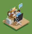 payment methods e-commerce isometric composition vector image vector image