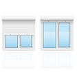 plastic window with rolling shutters 03 vector image