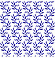 porcelain pattern with leaves vector image