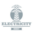 power station logo simple gray style vector image vector image