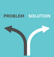 problem and solution arrows vector image vector image