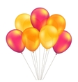 Red Orange Yellow Balloons Set Isolated vector image