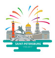 saint-petersburg flat cityscape to day the vector image vector image