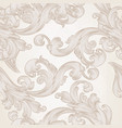 seamless wallpaper pattern with swirl florals vector image