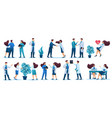 set characters medical staff and patients vector image