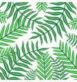 set tropical leafs plants pattern background vector image