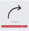 share icon in modern style for web site and vector image vector image