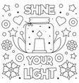 shine your light coloring page vector image vector image