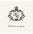 Stylish graceful monogram line art logo vector image vector image