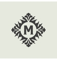 Stylish vintage monogram design vector image vector image
