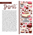 sweetness cooking book with recipe page template vector image