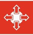 The navigation icon Arrows symbol Flat vector image vector image