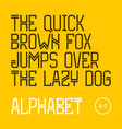 the quick brown fox jumps over the lazy dog vector image vector image