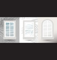 three closed realistic glass windows with shadows vector image vector image