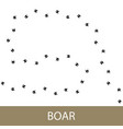 traks of animal boar vector image