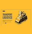 transport logistics service web banner vector image vector image