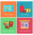travel planning banners set vector image vector image