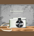 vintage camera realistic detailed 3d vector image