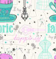 Vintage Color Seamless pattern - fashion and vector image vector image