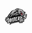 wolf e-sports logo design vector image