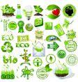eco and bio icons vector image